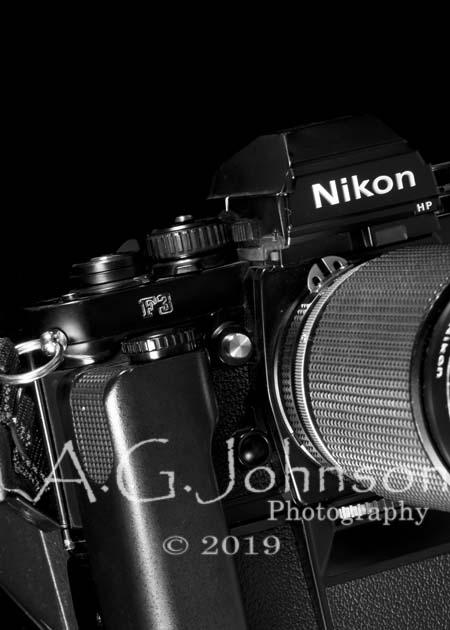 Classic Nikon, Nikon F3, fine art photography, Black and white camera art., , personal photography project