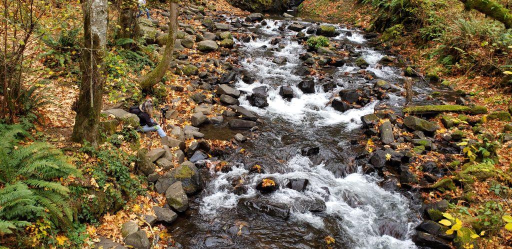 Birdal Veil Falls Creek, Colombia river Gorge,
