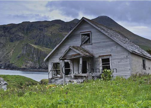 Alaska, Unga, Aleut village,